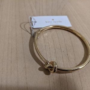 Kate Spade Sailor's Knot Hinge Bangle Gold  NWT